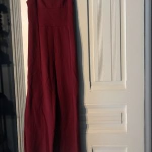 Red stretch jersey jumpsuit NEVER WORN